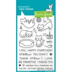 LAWN FAWN CLEAR STAMPS MEOW YOU DOIN