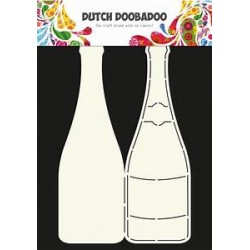 Dutch Doodaboo CARD ART CHAMPAGNE BOTTLE