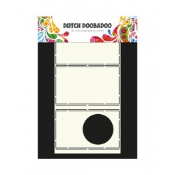 Dutch Doodaboo CARD ART POP UP  CIRCLE