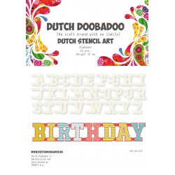 Dutch Doodaboo STENCIL ART NUMBERS 10 PIECES, HEIGHT 12 CM