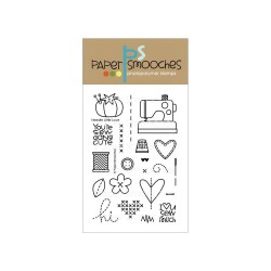 PAPER SMOOCHES - clear Stamps Needle little love