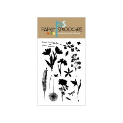 PAPER SMOOCHES - clear Stamps -Botanicals 1