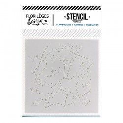 FLORILEGES DESIGN EMBOSSING FOLDER  CONSTELLATIONS