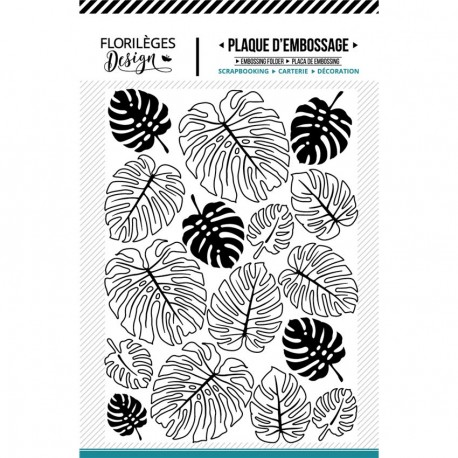 FLORILEGES DESIGN EMBOSSING FOLDER  MONSTERAS