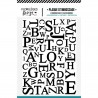 FLORILEGES DESIGN EMBOSSING FOLDER MIX DE LETTRES