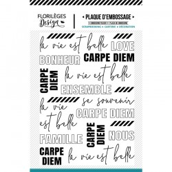 FLORILEGES DESIGN EMBOSSING FOLDER LA VIE EST BELLE