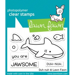 LAWN FAWN CLEAR STAMPS DUH NUH