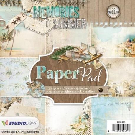 STUDIO LIGHT  PAPER PAD 078 Memories of Summer 2