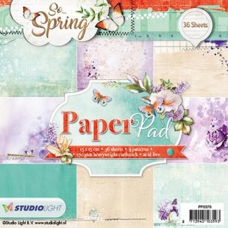 STUDIO LIGHT  PAPER PAD 076 SO SPRING 2