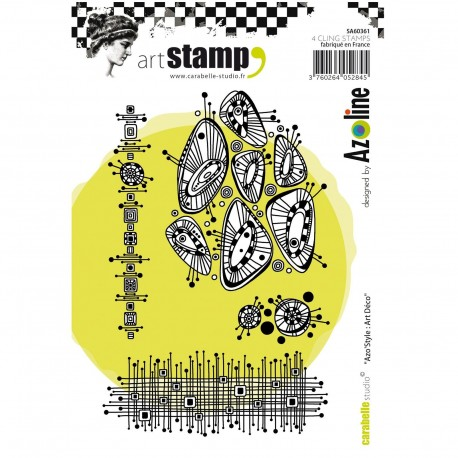 Carabelle cling stamp A6 Azo' Style art déco
