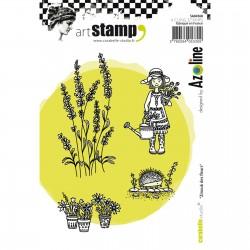 Carabelle cling stamp A6 Zinouk des Fleurs by Azoline