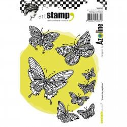 Carabelle cling stamp A6 Envol de Papillons by Azoline