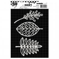 Carabelle Masque STENCIL LEAFS, 10.5X14.9 cm