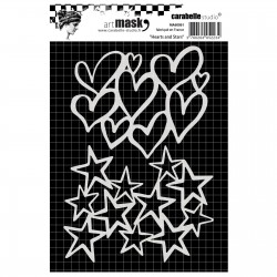 Carabelle Masque STENCIL Hearts and Stars, 10.5X14.9 cm