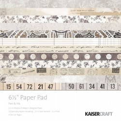 KAISERCRAFT PEN AND INK PAPER PAD 16X16 CM