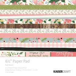 KAISERCRAFT FULL BLOOM PAPER PAD 15X15CM