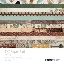 KAISERCRAFT ANTHOLOGY PAPER PAD 16X16 CM