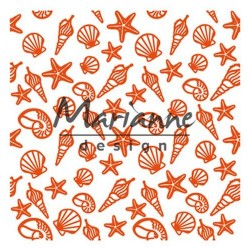 Marianne D Embossing folder SEA SHELLS 14.1 X 14.1 CM