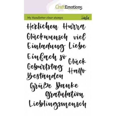 Clear Stamps Handletter Wörter Verschieden