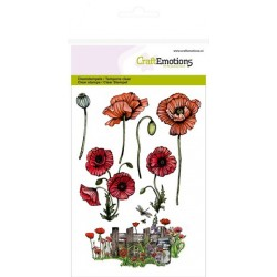 Clear Stamps poppies, fence