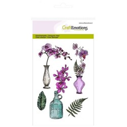 Clear Stamps Orchid, vases and bottle