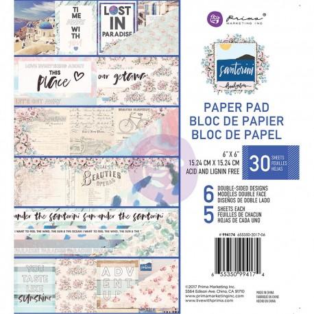 PRIMA MARKETING SANTORINI PAPER PAD 15X15CM