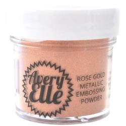 AVERY ELLE Metallic Fine Embossing Powder, ROSE GOLD
