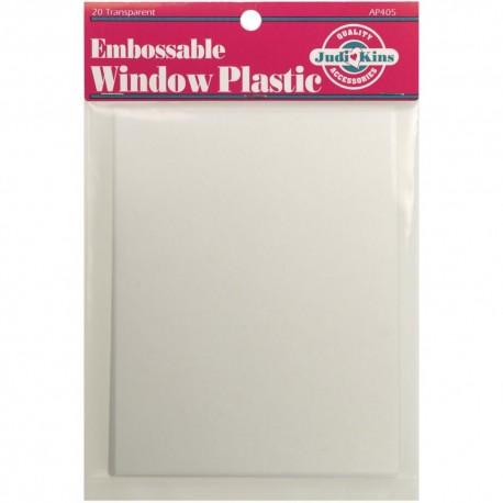 JUDIKINS embossable Window Plastic Sheets