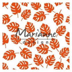 Marianne D Embossing folder TROPICAL LEAVES 14.1 X 14.X CM