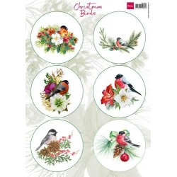 MARIANNE D DECOUPAGE SHEET, CHRISTMAS BIRDS
