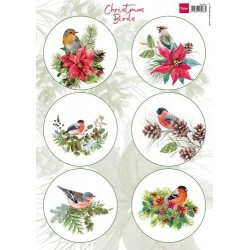 MARIANNE D DECOUPAGE SHEET, CHRISTMAS BIRDS  2