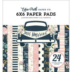 ECHO PARK PAPER JUST MARRIED PAPER PACK 15X15 CM