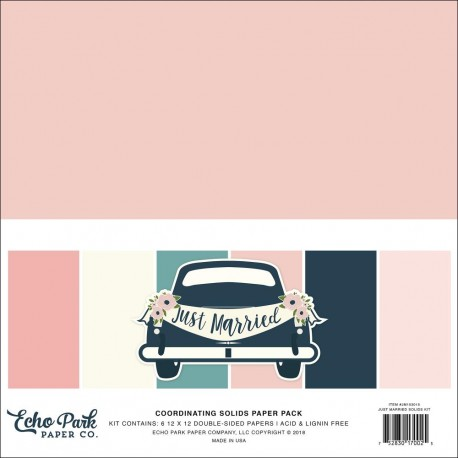 ECHO PARK PAPER JUST MARRIED SOLID PAPER PACK 30X30CM
