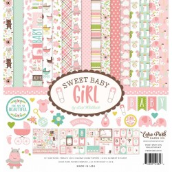 ECHO PARK PAPER SWEET BABY GIRL PAPER PACK 30X30CM