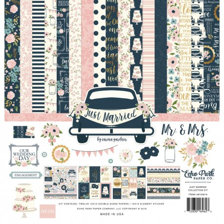ECHO PARK PAPER JUST MARRIED PAPER PACK 30X30CM