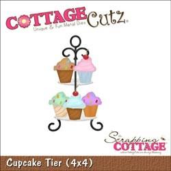 Cottage Cutz Die 4x4 Cupcake Tier, die mesure 10x10cm