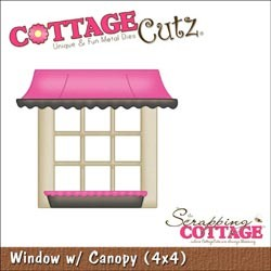 Cottage Cutz Die 4x4 Window with Canopy, die mesure 10x10cm