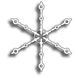 MEMORY BOX Beaded Snowflake