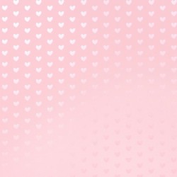 BAZZILL FOIL HEART  COTTON CANDY SPECIALTY PAPER