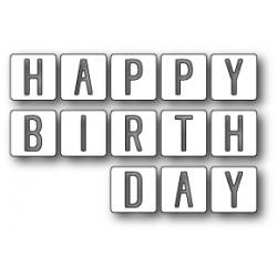 MEMORY BOX Happy Birthday Tiles