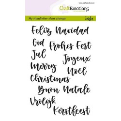 CraftEmotions clearstamps A6 - handletter - Christmas 7 languages