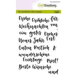 CraftEmotions clearstamps A6 - handletter - Wörter Weihn. kl (DE)