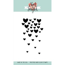 NEAT & TANGLED Clear stamps Falling Hearts