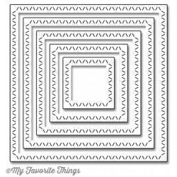 MFT Zig Zag stitched squares Stax (Déstockage)