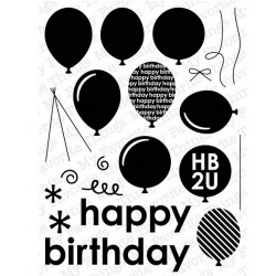 MFT Party Balloons clear stamps