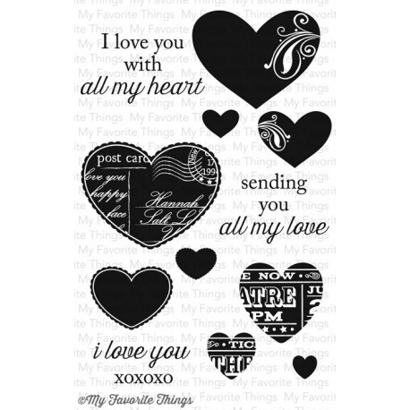 MFT All my Love clear stamps