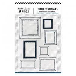 FLORILEGES DESIGN EMBOSSING FOLDER  MUR DE CADRES