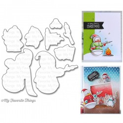 MFT TOASTY GREETINGS stamps and dies Set