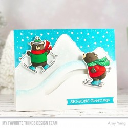 MFT sKI-SONS GREETINGS CLEAR STAMPS