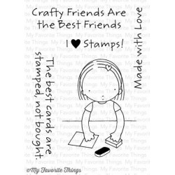 MFT PURE INNOCENCE CRAFTY FRIENDS CLEAR STAMPS